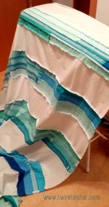 Turquoise Stripes Quilt 1