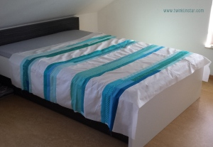 Turquoise Stripes Quilt 3
