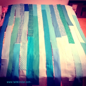 Turquoise Stripes Quilt 4